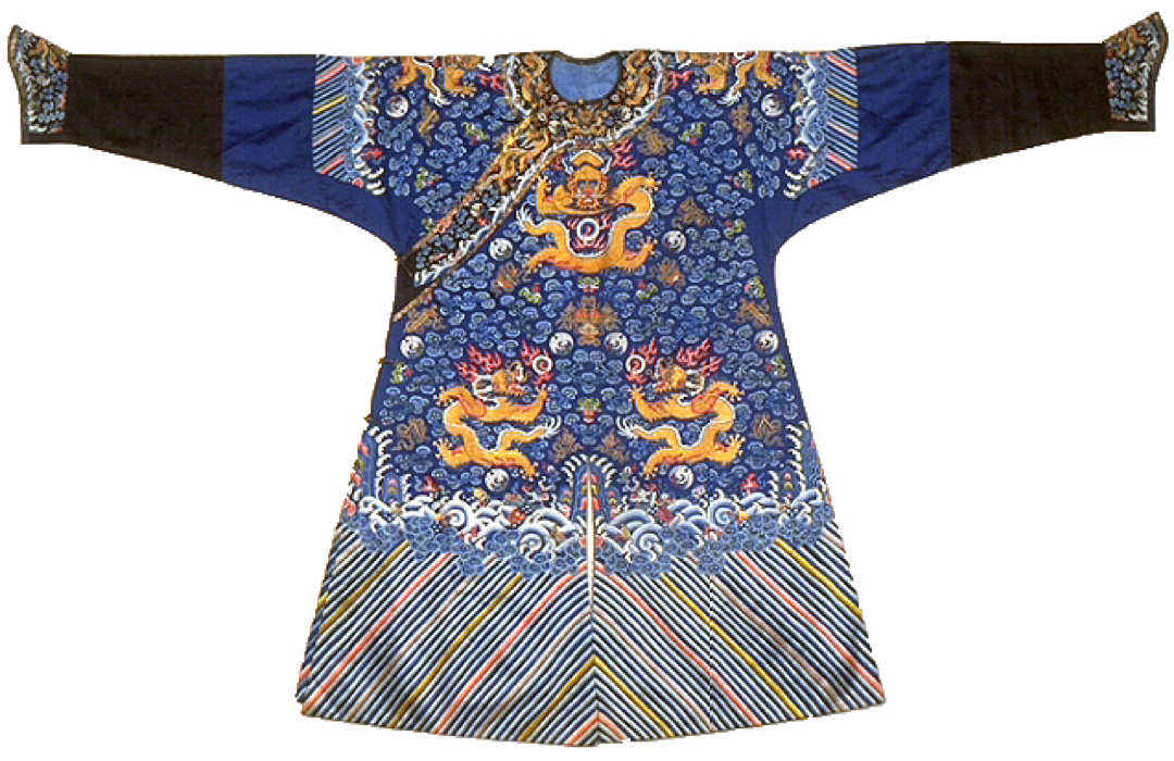 Blue robe with dragons