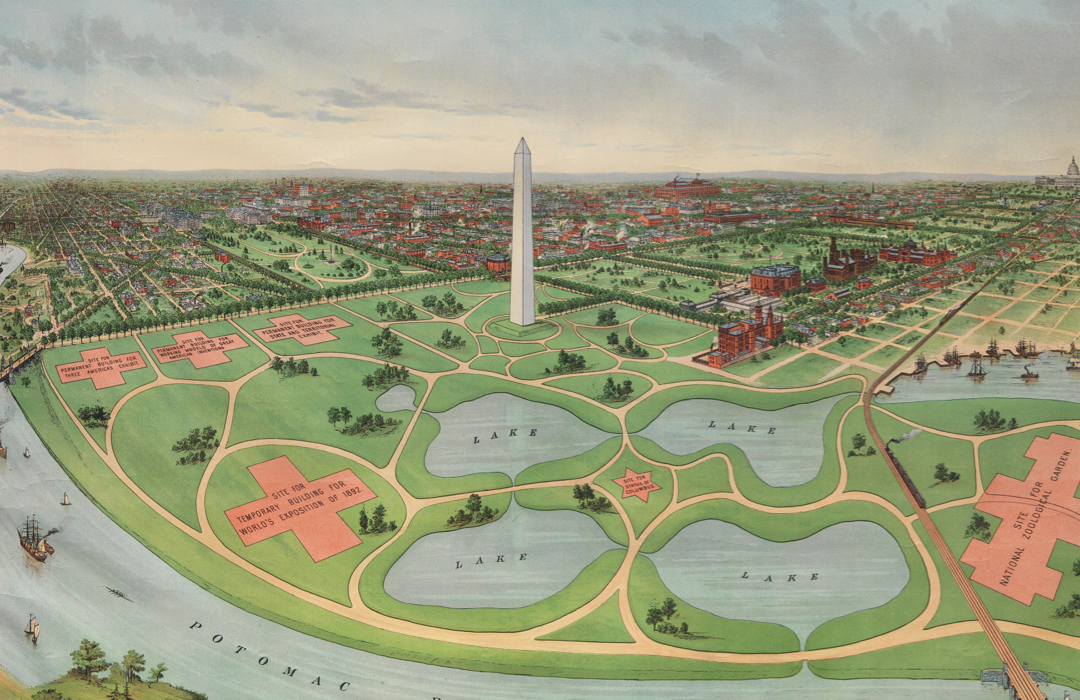 Proposed plan for National Mall