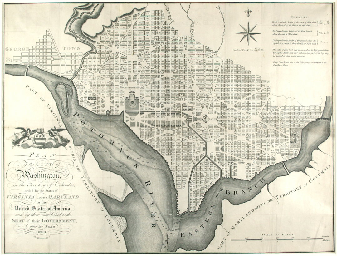 historical map of DC