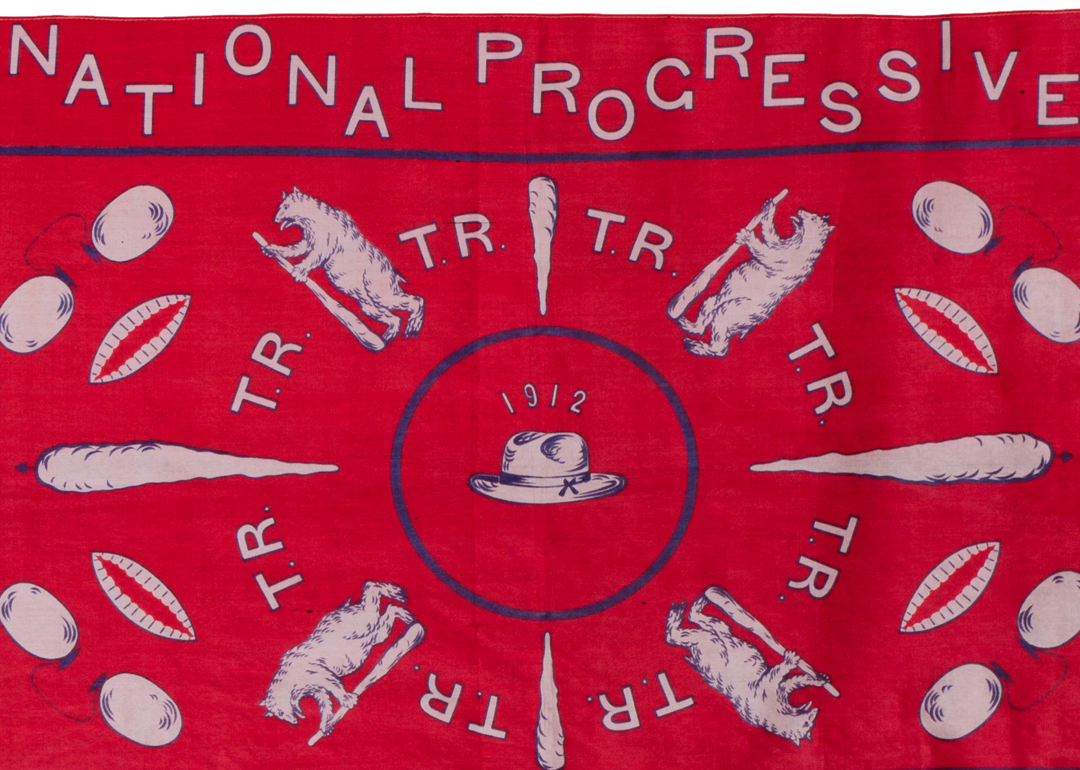 Detail of Theodore Roosevelt campaign kerchief