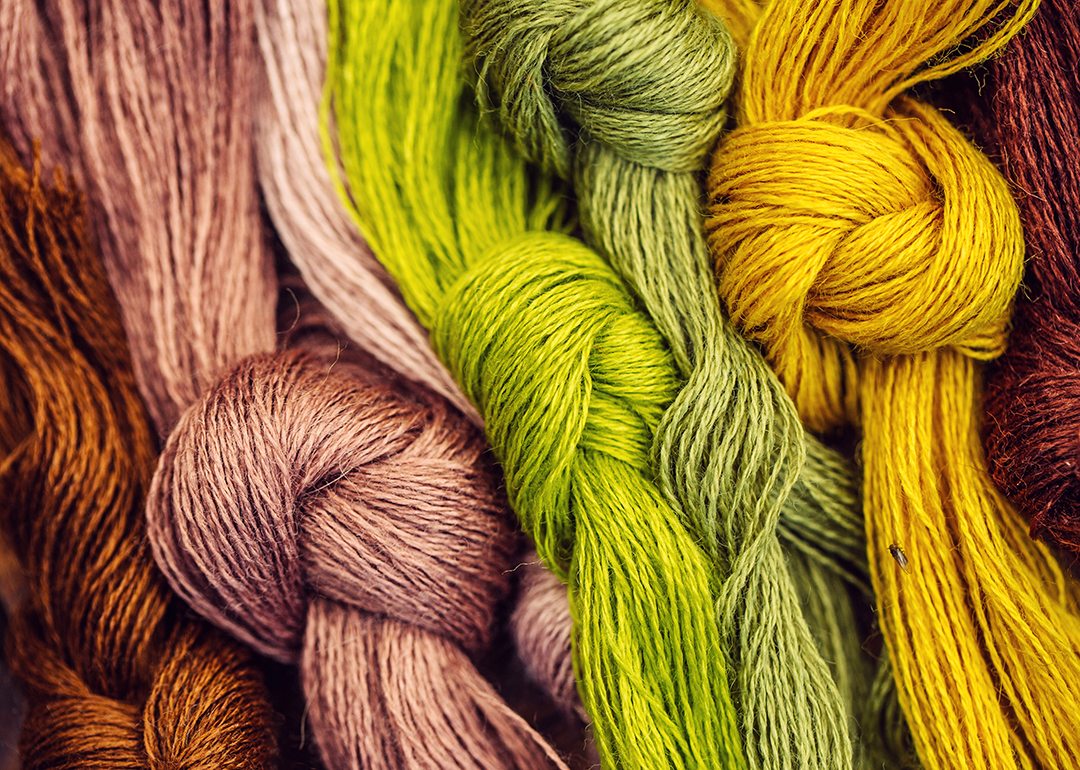 Colored yarns