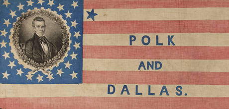 27-Star James K. Polk and George M. Dallas Campaign Parade Flag
