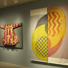 "Two pieces in The Textile Museum's ""Sourcing the Museum"" exhibition"