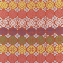 "Silk with ""five round sliced melon"" motif, Japan"