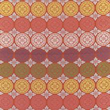 "Silk with ""five round sliced melon"" motif, Japan"