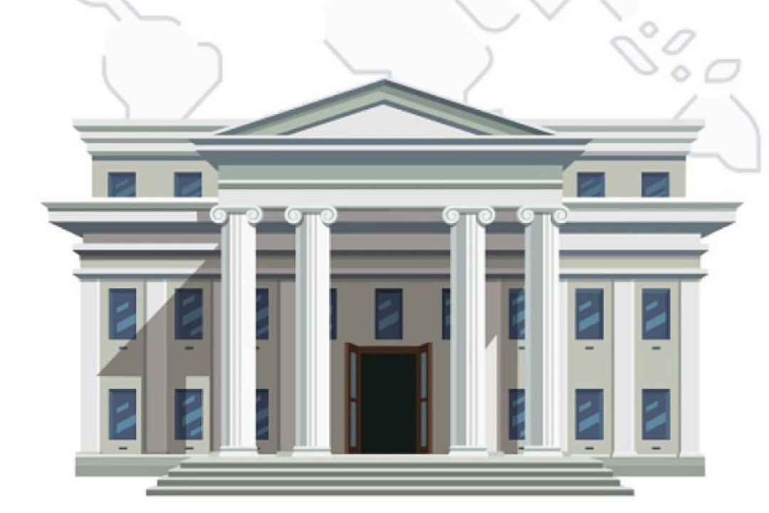 Civic building illustration