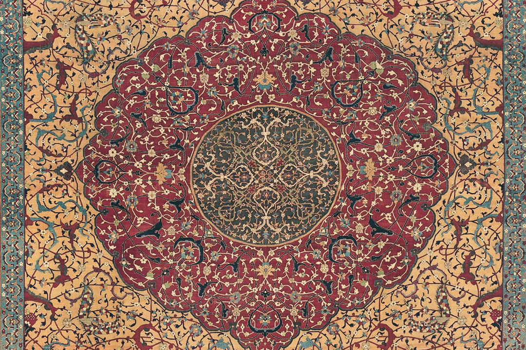 Detail of an Oriental carpet