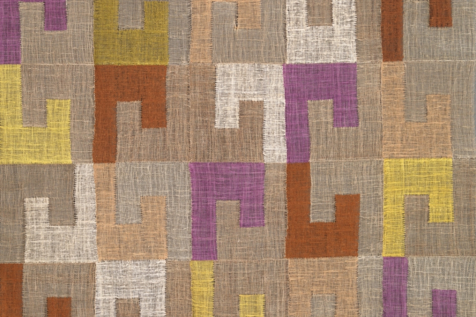 Detail of textile with geometric pattern
