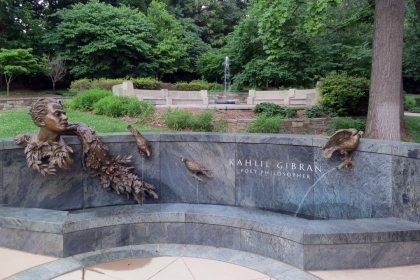 Photo of monument to Kahlil Gibran poet and philosopher